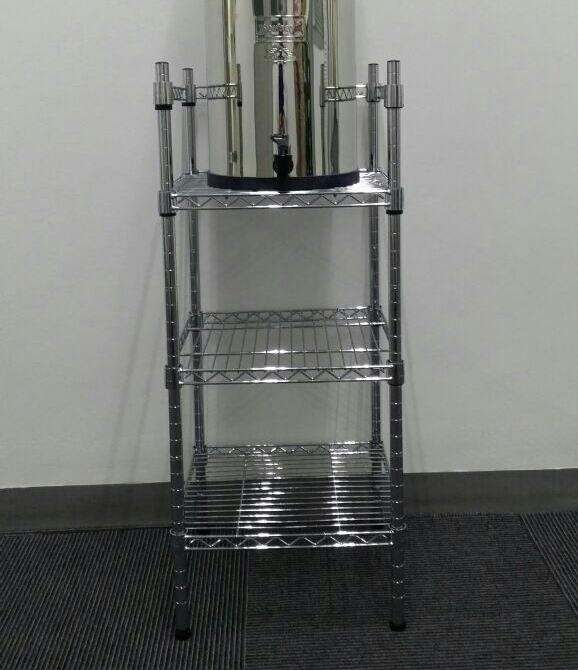Chrome Plated Metal Stand Water For Life